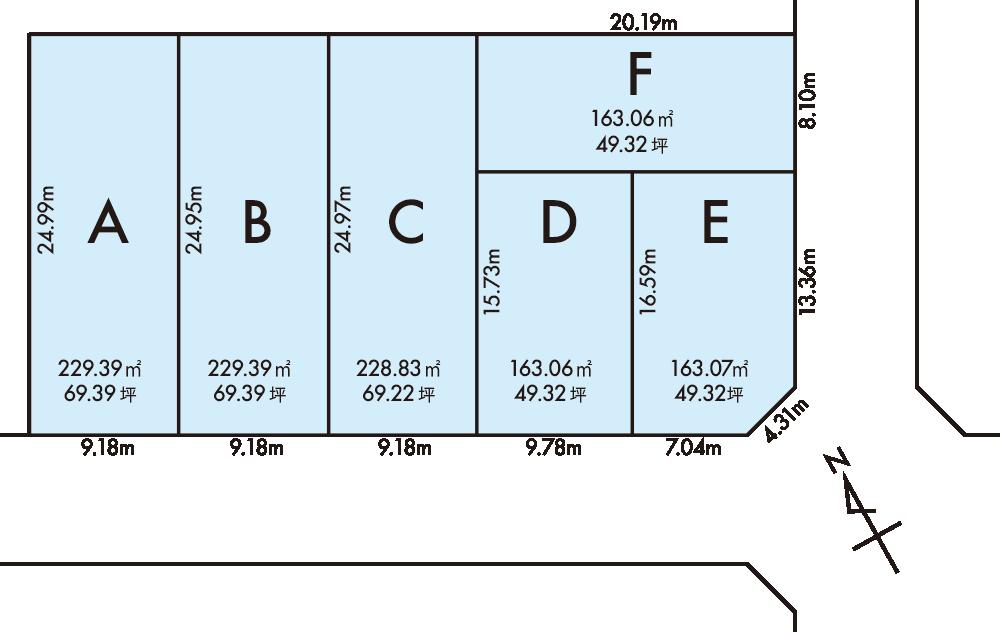 鯖江市分譲地 区画図