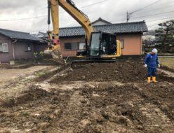 福井市種池 地盤改良工事