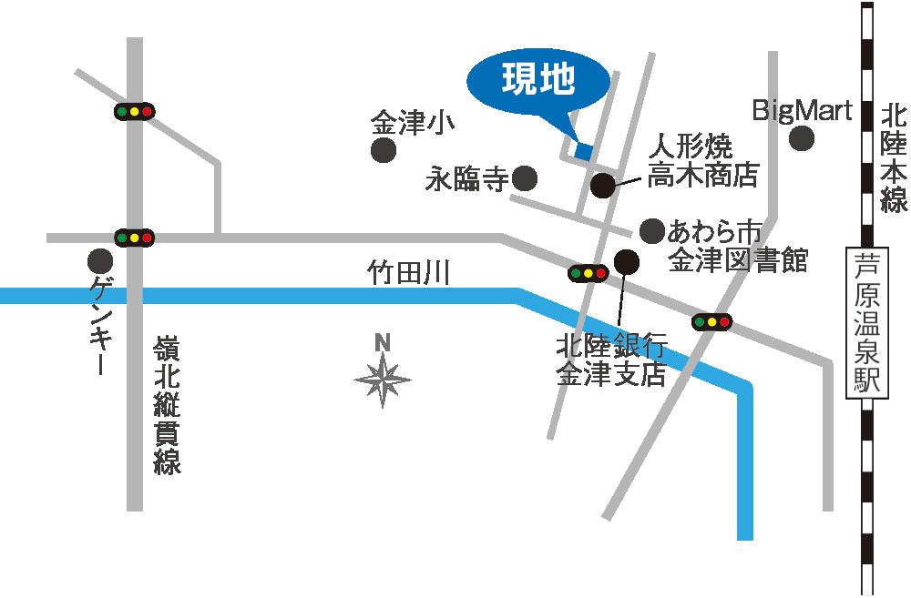 福井県あわら市春宮地図