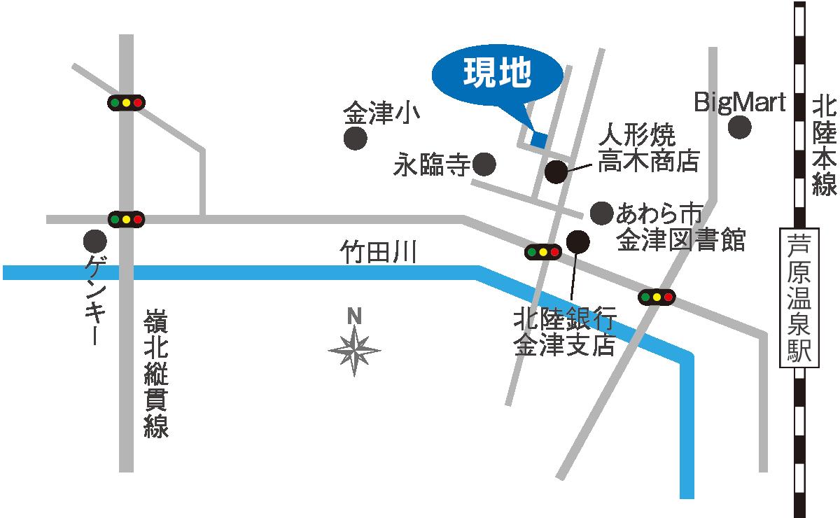 あわら市春宮モデルハウス 地図 マップ