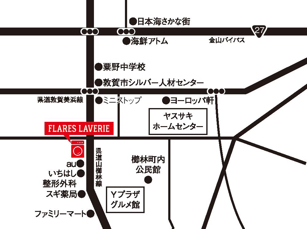 フレアスラベリア 敦賀 地図