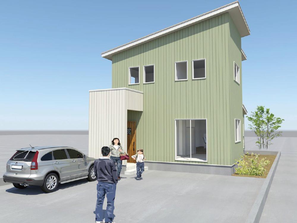 鯖江市円山モデルハウス分譲住宅 パース