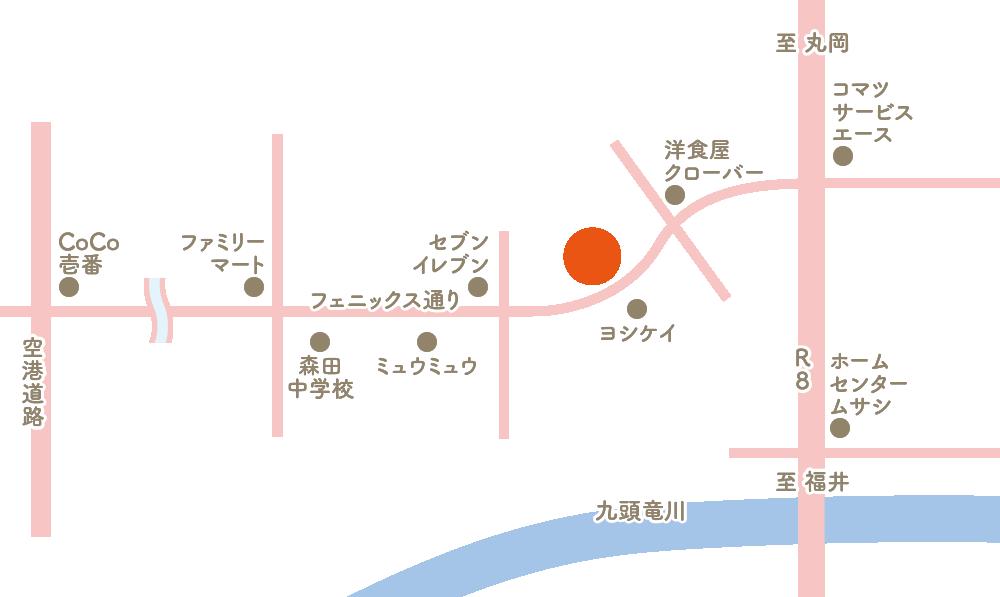 福井市河合寄安町 新築建売 地図